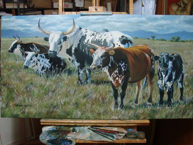 Ngunis in oil, finished at last! ( I think,... is a painting ever finished ? )
