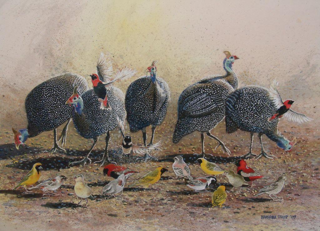 Feeding the Birds (50x70cms)