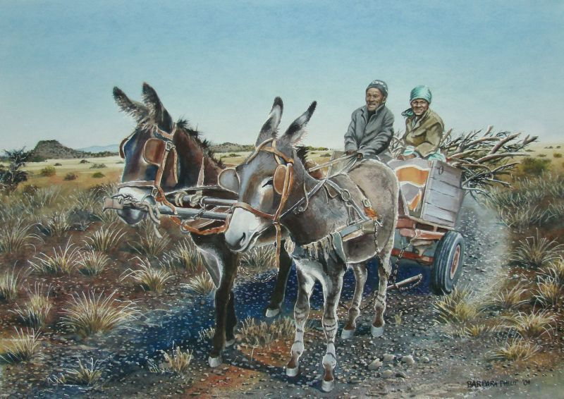 Solomon's Donkey Cart. sold at the PE Exhibition 2009