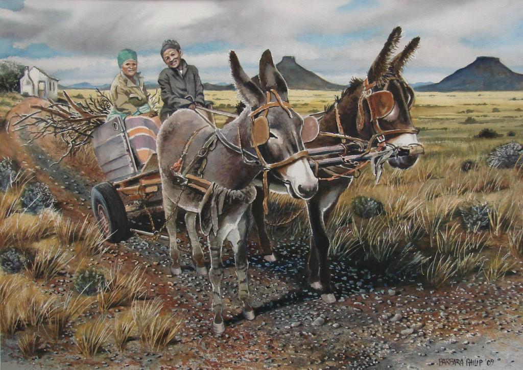 Adelle's Donkey Cart. sold 2009, Burgersdorp.