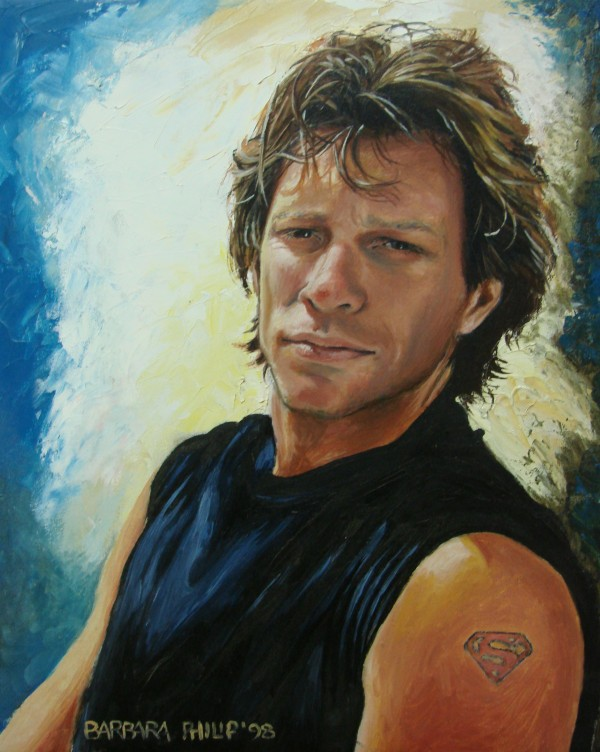 Portrait of Jon Bon Jovi. 1998